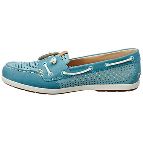 e42ba3a9db24 Sperry Shoes | Top Sider Coil Ivy Aqua Perforated Leather | Poshmark
